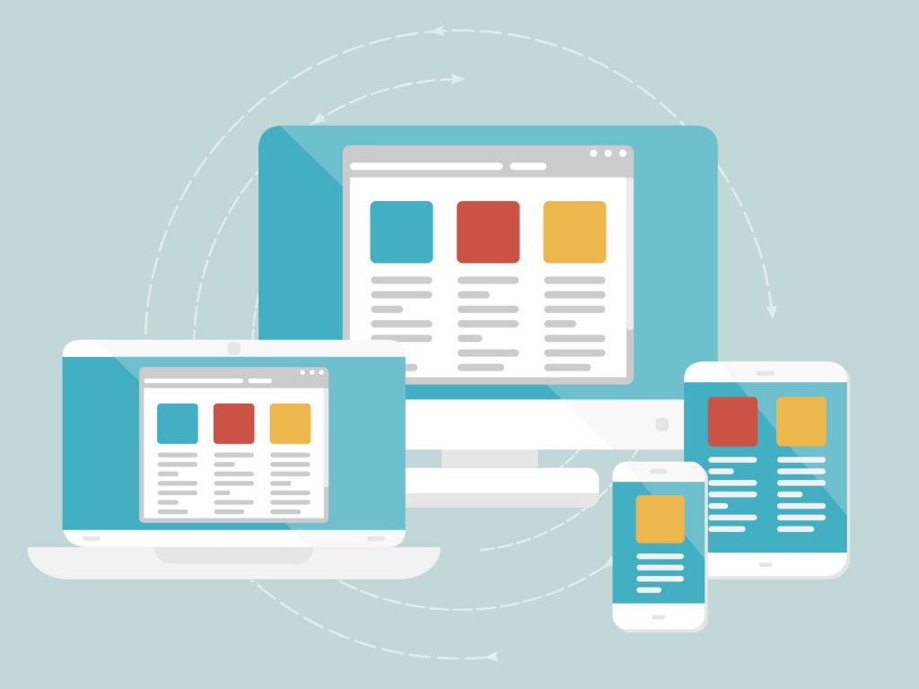 Business website picture of websites on different devices