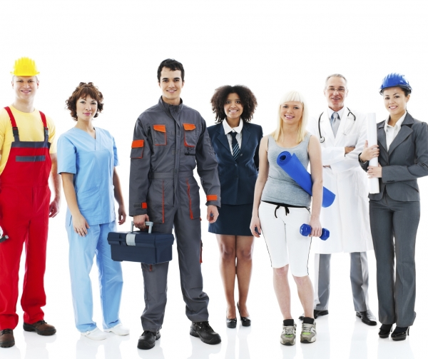 Tax deductible work clothing, picture showing different types of work clothing