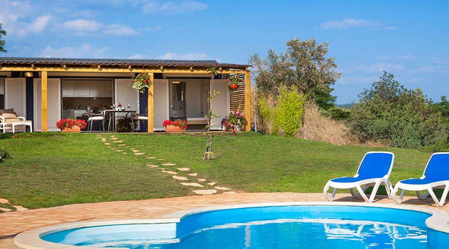 Mixed use assets, picture of holiday home with pool