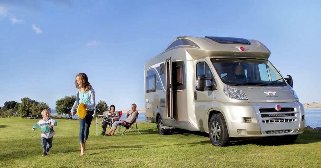 Wilderness Motorhomes, motorhome with family