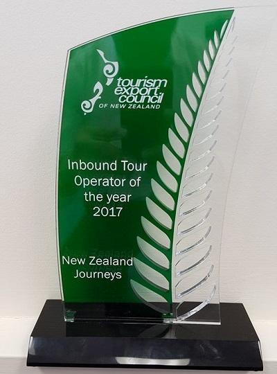 New Zealand Journeys wins tourism award