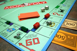Picture of Monopoly board game to demonstrate property investment