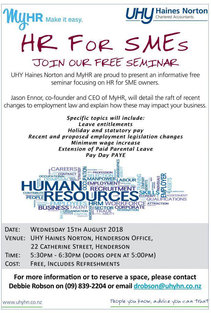UHY Client Seminar HR