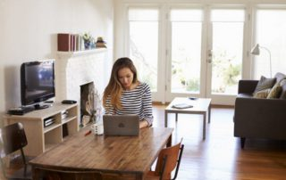 Home business picture of women working from home
