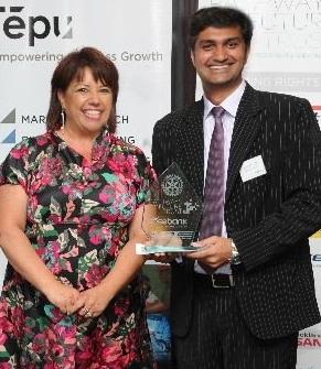 Hon Paula Bennett with Bhavin Sanghavi