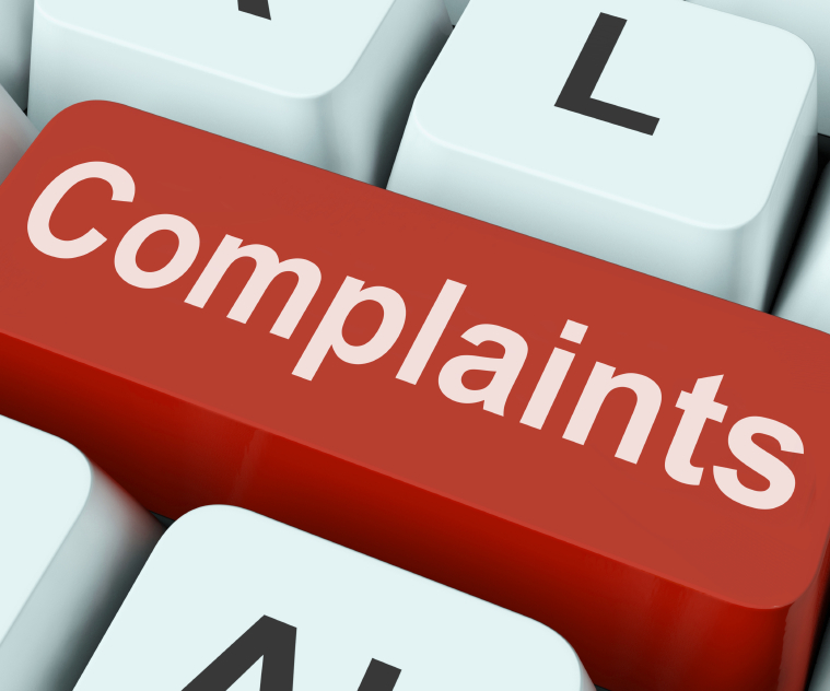 Customer Complaints Key Showing Complaining Or Moaning Online