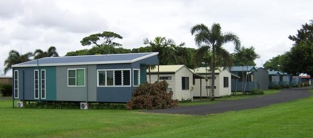 Example of working for accommodation, cabins in camping ground