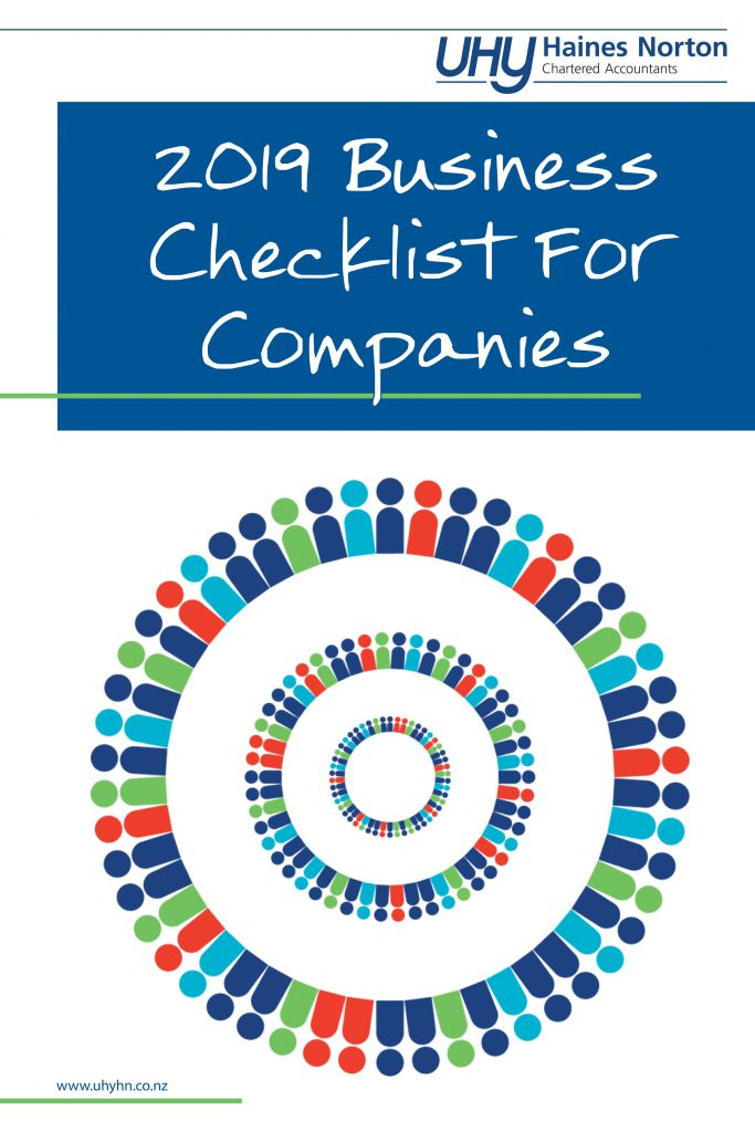 UHY Haines Norton 2019 Business Checklist For Companies