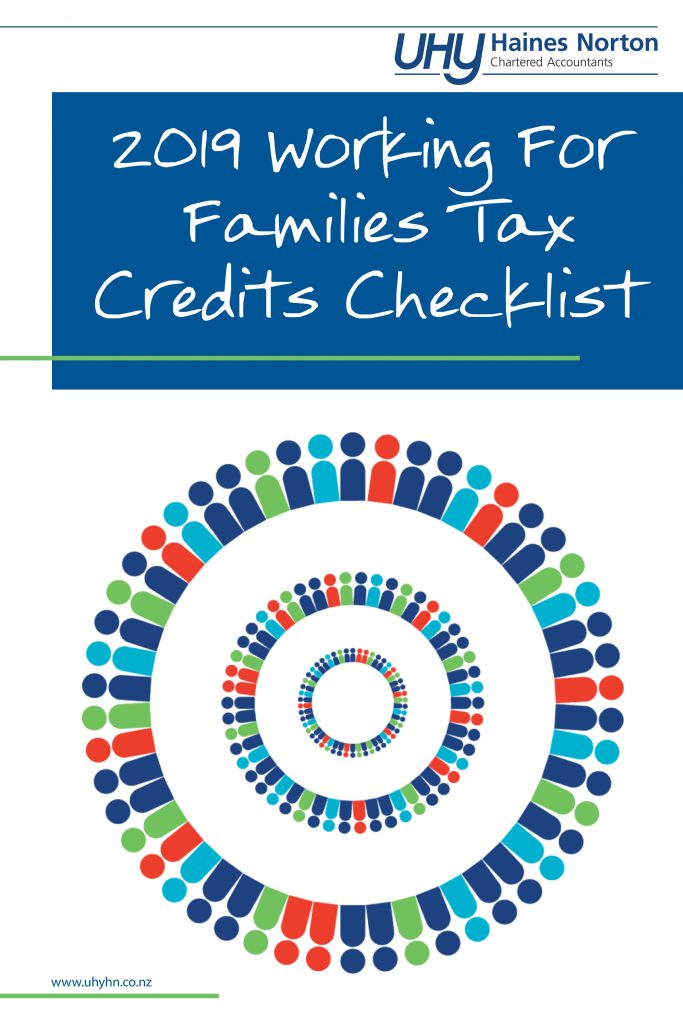 UHY Haines Norton 2019 Working For Families Tax Credits Checklist