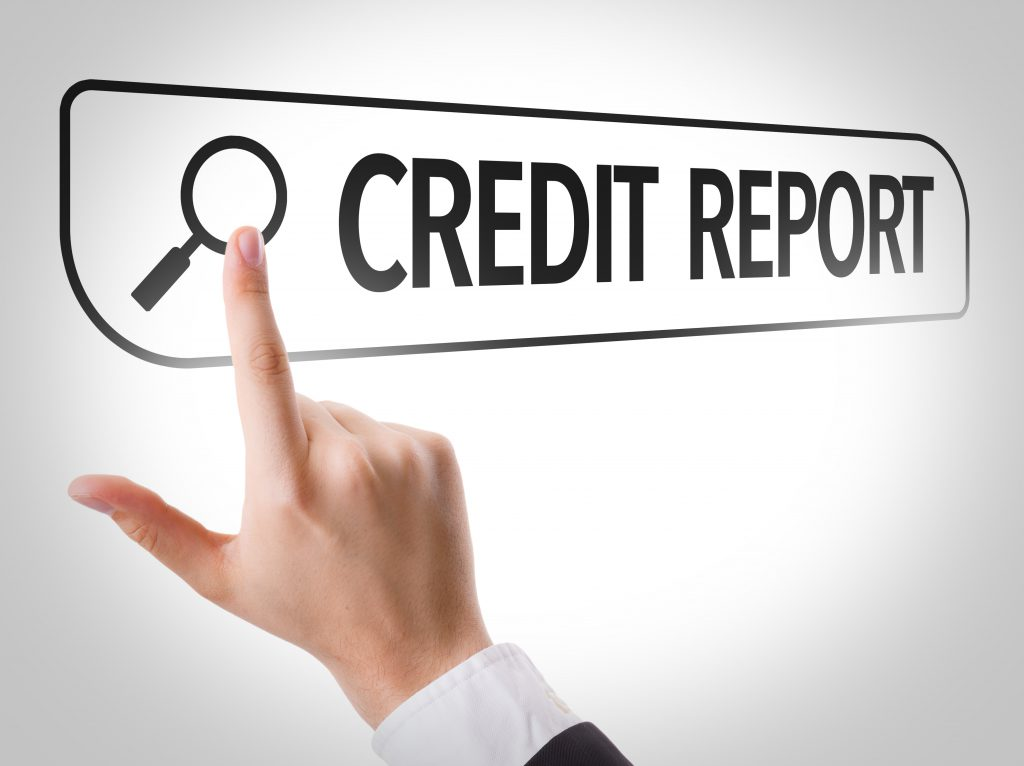 Credit reporting changes, hand pushing search on credit report