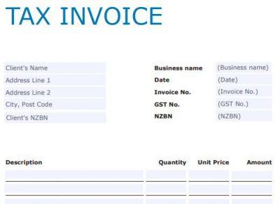 Tax invoice example