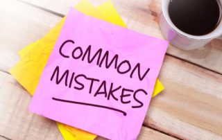 GST mistakes, post it notes saying Common Mistakes