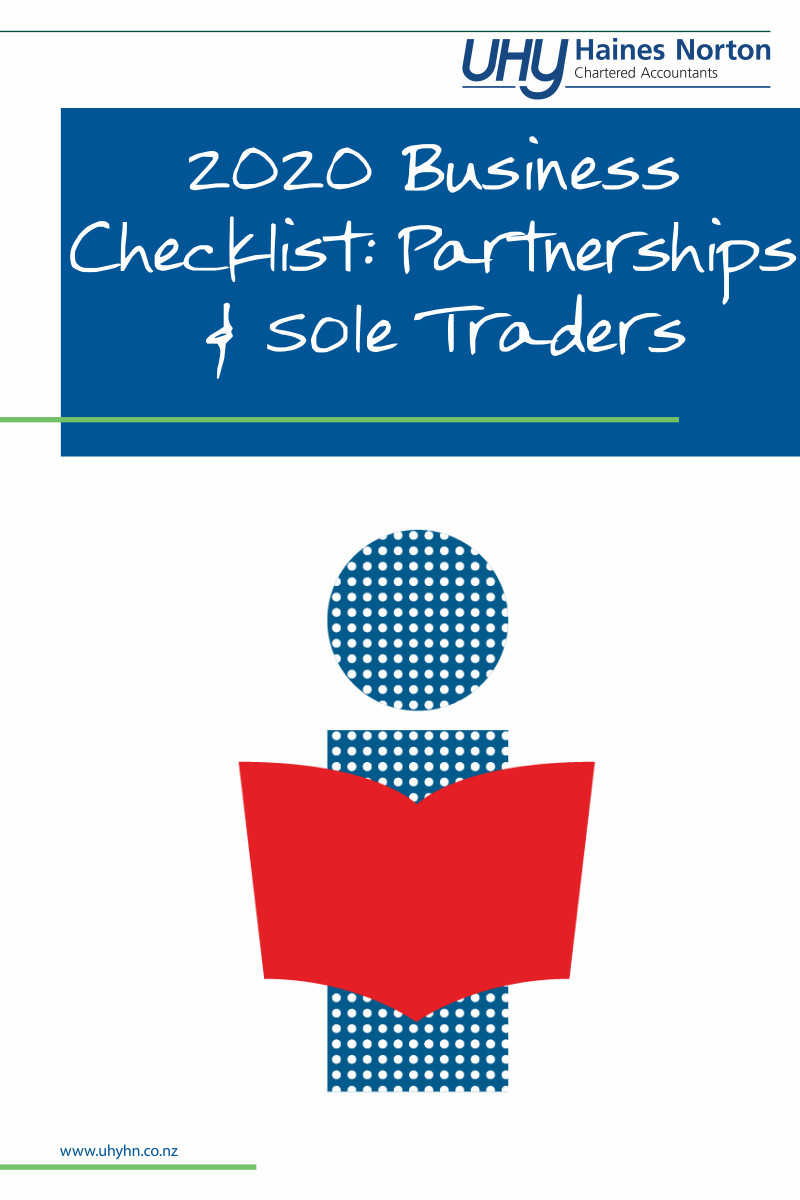 UHY Haines Norton 2020 Business Checklist For Partnerships & Sole Traders